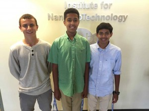 NSF High School Cohort 2015: Nico Deshler, Nahom Yimam and Prathak Naidu
