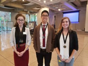 Winners Allie Zito, Joey Li and Hayley Strasburger