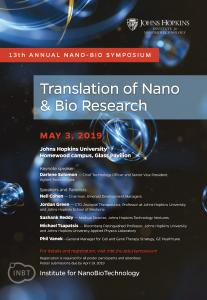 13th Annual Nano-Bio Symposium @ Johns Hopkins Homewood campus, Glass Pavilion and Arellano Theater
