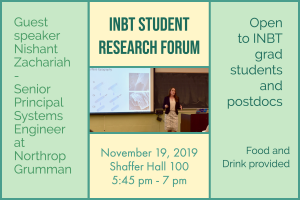 November Student Research Forum @ Shaffer Hall, Room 100, JHU Homewood Campus