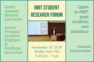 November Student Research Forum @ Shaffer Hall, Room 100, JHU Homewood Campus