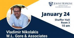 INBT Seminar - Vladimiros Nikolakis @ Shaffer Hall, Room 3, JHU Homewood Campus