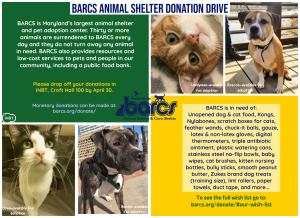 BARCS Animal Shelter Donation Drive @ Croft Hall 100
